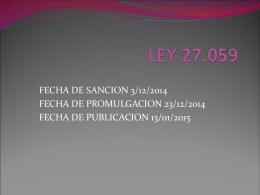 LEY 27.059