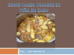 Como hacer vinagre de piña