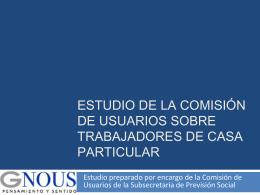 Estudio de la Comisión de Usuarios sobre
