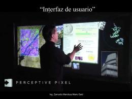 """Interfaz de usuario"""" - Análisis y Diseño Orientado"""