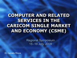 Computer and Related Services in the CARICOM