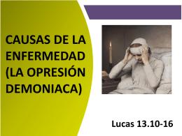 Lección 6- CAUSAS DE LA ENFERMEDAD (LA OPRESIÓN