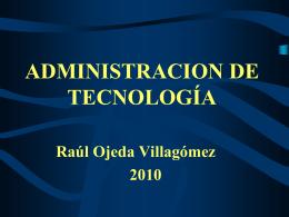 ADMINISTRACION DE TECNOLOGÍA