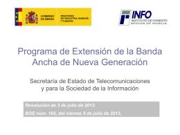 Programa de Extensión de la Banda Ancha de Nueva