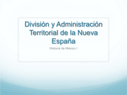 División y Administración Territorial de la Nueva