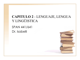 CAPITULO 2 - LENGUAJE, LENGUA Y LINGÜSTICA