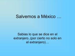 Salvemos a México - Azull Página Principal