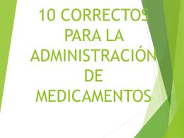 10 CORRECTOS PARA LA ADMINISTRACIÓN DE