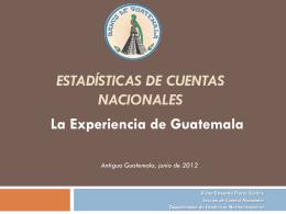 Estadísticas de Cuentas Nacionales Trimestrales