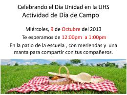 Celebrando el Día Unidad en la UHS Actividad de