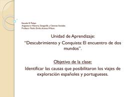 Escuela El Palqui. Asignatura: Historia, Geografía
