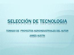 SELECCIÓN DE TECNOLOGIA POR JORGE E. RIVERA