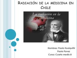 Radiación de la medicina en Chile