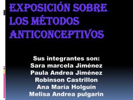 Exposición sobre los métodos anticonceptivos