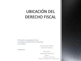 UBICACIÓN DEL DERECHO FISCAL