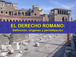 EL DERECHO ROMANO: Concepto, periodificación y