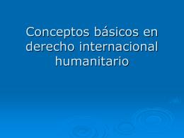Conceptos básicos en derecho internacional