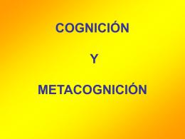 COGNICIÓN Y METACOGNICIÓN - ALUMNOS FISI
