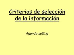 Criterios de selección de la información