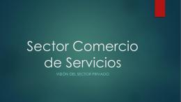 Presentación Sector Comercio de Servicios