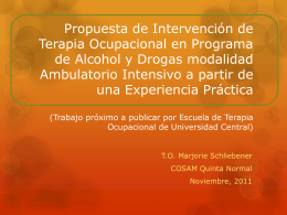 Propuesta de Intervención de Terapia Ocupacional
