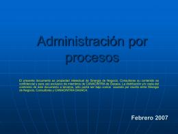 TALLER DE ADMINISTRACIÓN DE PROCESOS