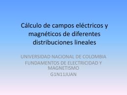 Cálculo de campos eléctricos y magnéticos de