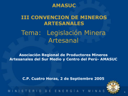 PERÚ: Un país minero