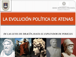 LA EVOLUCIÓN POLÍTICA DE ATENAS -