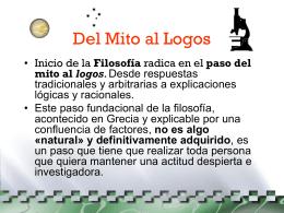 Del Mito al Logos - Filosofía y Psicología |