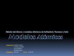 Modelos atómicos - Politécnico Alemán Albert