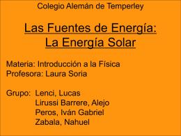 BREVE HISTORIA DE LA ENERGÍA SOLAR La energía