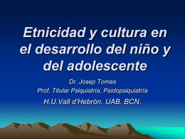 Etnicidad y cultura en el desarrollo del niño y