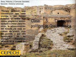 Clase 5: Conceptos políticos de Grecia clásica