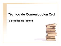 Técnica de Comunicación Oral