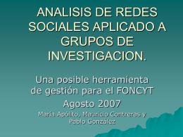 Primer Congreso Latinoamericano de Análisis de