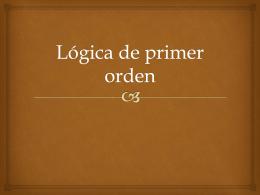 Lógica de primer orden - Curso de Escritura