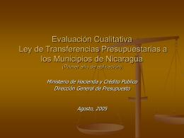 Evaluación Cualitativa Ley de Transferencia