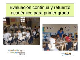 Evaluación continua y refuerzo académico para