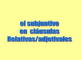 Subjuntivo en cláusulas relativas