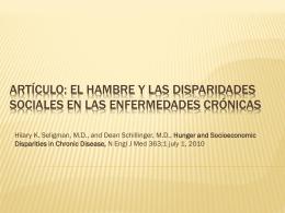 Artículo: El hambre y las disparidades sociales en