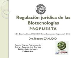 Régimen jurídico de las Biotecnologías