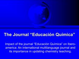 La revista `Educación Química`