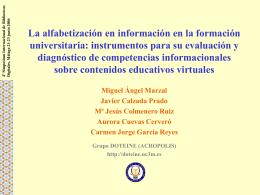 La alfabetización en información en la formación