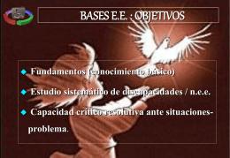 VISIÓN HISTÓRICA DE LA EDUCACIÓN ESPECIAL (I)