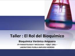 Rol del Bioquímico