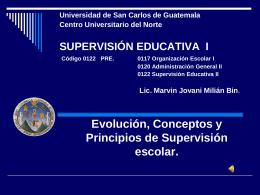 Evolución y Conceptos de Supervisión escolar.