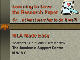 Learning to Love the Research Paper