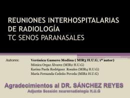 REUNIONES INTERHOSPITALARIAS DE RADIOLOGÍA TC