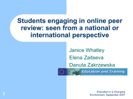 Students engaging in online peer review: seen from